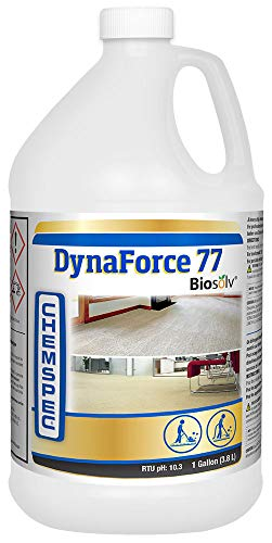 Chemspec Dynaforce 77 with Biosolv, Professional Carpet Cleaning Detergent for Commercial and Residential Carpet, 1 Gal