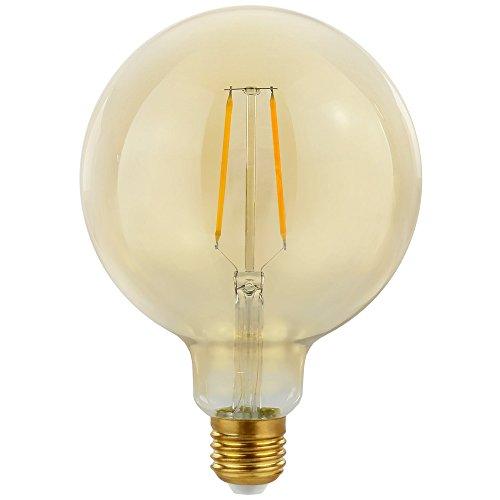 LED Filament Leuchtmittel 2W ~ 25W Gold klar Retro Shine warmweiß 2700K Nostalgie Design Vintage (Globe G125)