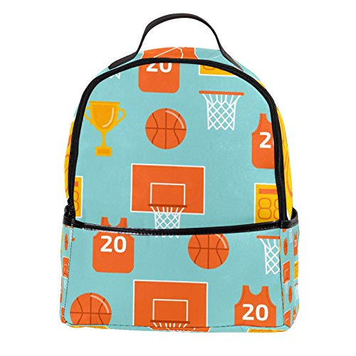 ATOMO Casual Mini Backpack basketball game champion pattern PU Leather Travel Shopping Bags Daypacks