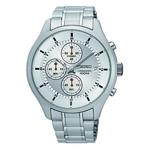 Seiko Orologio Cronografo Quarzo Uomo con Cinturino in Acciaio Inox SKS535P1