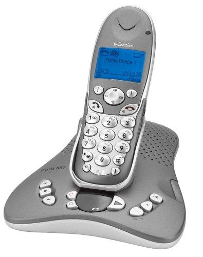 Swissvoice Eurit 557 schnurloses ISDN Telefon mit digitalem Anrufbeantworter