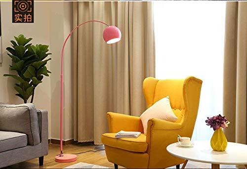 DSM Ins Wind Angelampe Net Rotes Sofa Nachttisch Vertikal Nordic Light Luxus Schlafzimmer LED Stehleuchte 160cm (Color : Pink, Size : 12w smart)