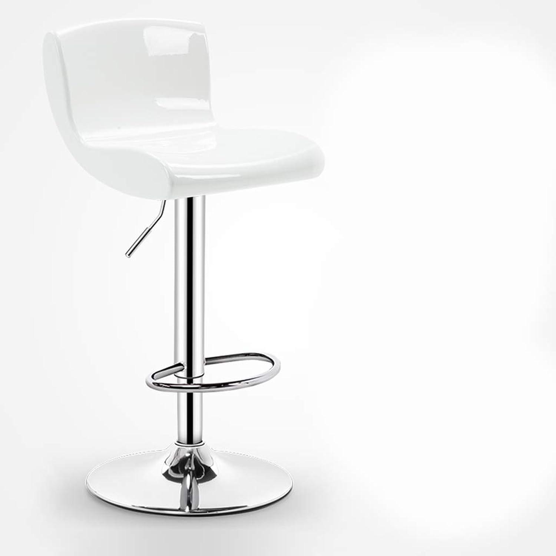 Jiu Si- Bar Chair Lift High Stool High Stool Bar Chair Bar Table and Chair Bar Stool High Chair Leisure Chair Front Chair bar Chair (color   White)