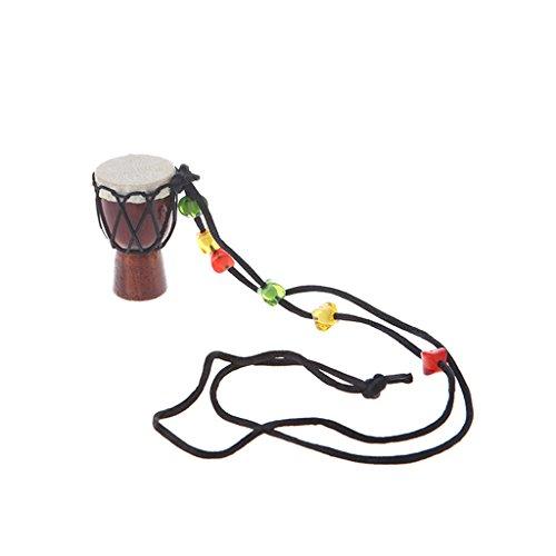 Rtengtunn Tambor de Madera clásico Jambe Mini Djembe Percusión Tambor de Mano Africano Bongo Gift - 4