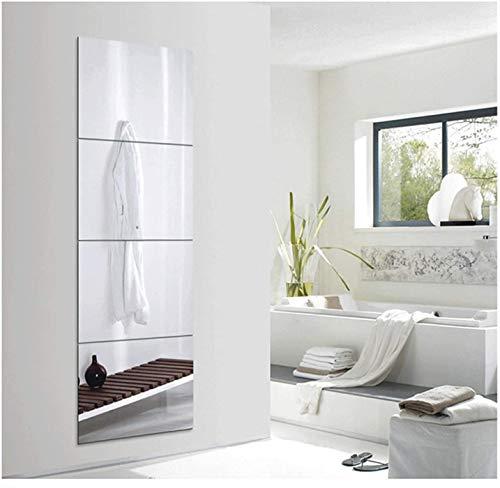 1000 MIRROWS® Premium SPIEGELFLIESEN GROß  4er Set - 40 x 60 cm   Wandspiegel Selbstklebend, Spiegel, Ganzkörperspiegel