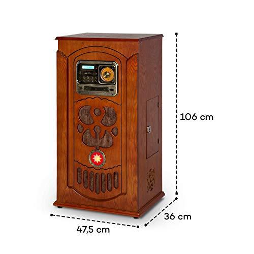 auna Musicbox Jukebox Equipo estéreo Retro - Equipo de música , Tocadiscos ,...