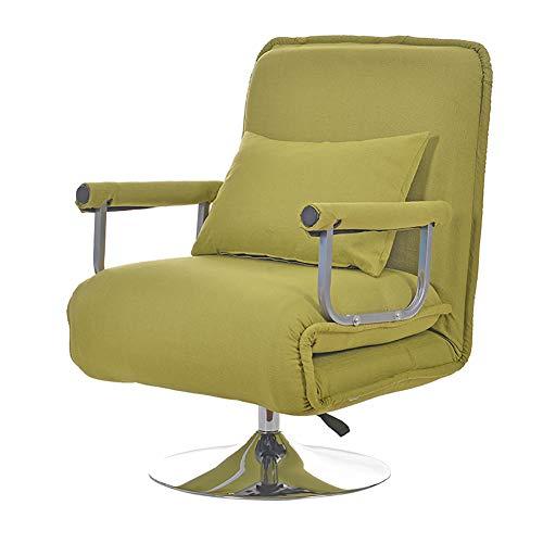 XIAMIMI 360 Grad-Schwenker Video Rocker Gaming Chair einstellbare Winkel Stuhl Klappboden Stuhl-Wohnzimmer-Möbel Ergonomisches Design,Gelb