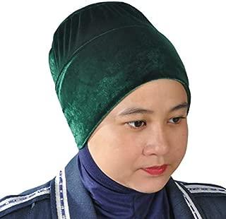 Silk Story Non-Slip Velvet Handmade Bun Hijab Volumizer Cap Turban Under Scarf Bonnet Shawl Chemo Cancer Head Cover Hair Loss