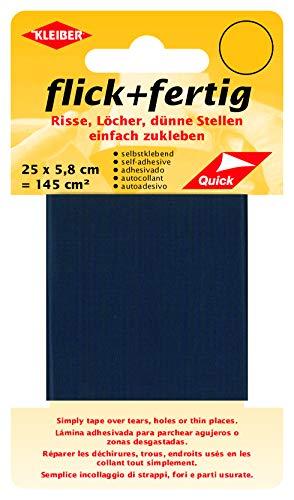 Kleiber - Cinta de reparación de nailon, autoadhesiva, de Flick Plus Fertig, 145 cm², color azul marino