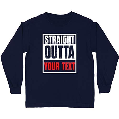 lepni.me Camiseta para Niños Directamente de su Propio Texto Personalizado Eslogan (12-13 Years Azul Multicolor)