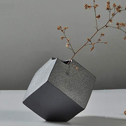 AFQHJ Moderne vaas Keramische vaas, decoratieve vaas voor thuis salontafel, geselecteerde klei, handgemaakt, grijze vaas