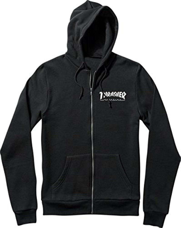 Thrasher Magazine Skate Mag Zipブラックフード付きスエットシャツ?–?Xラージ