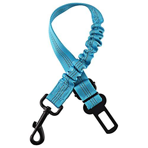 Cintura Sicurezza Cani Cintura di Sicurezza Regolabile in Nylon Materiale E Forte Moschettone Massima Sicurezza per Tutte Le Razze e Gatti (Blu) (50-83CM)