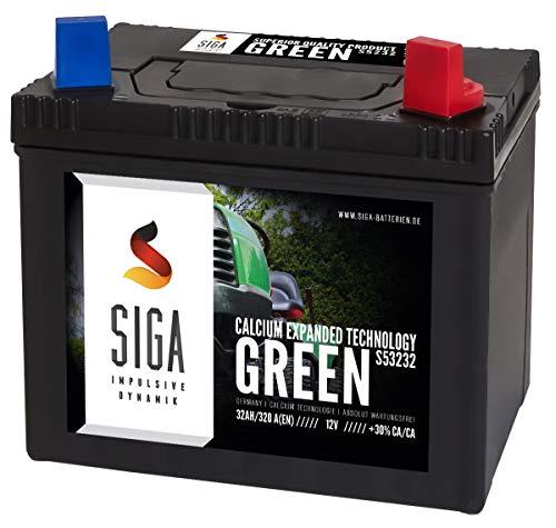 Rasentraktor Aufsitzmäher Batterie 32Ah 12V Aufsitzrasenmäher statt 26Ah 28Ah 30Ah Plus Pol Rechts (32Ah Plus Rechts)