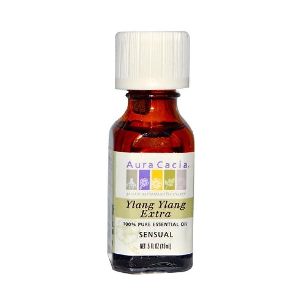 New - Aura Cacia Pure Essential Oil Ylang Ylang Extra - 0.5 fl oz
