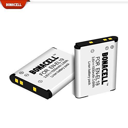 4 Baterías de repuesto para Nikon Coolpix de 1000mAh.