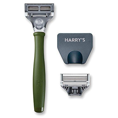Harry's Herrenrasierer mit 2 Rasierklingen, Waldgrün