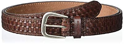 Tommy Bahama Men's 100% Leather Belt, Brown Woven, Extra Large (42-44)
