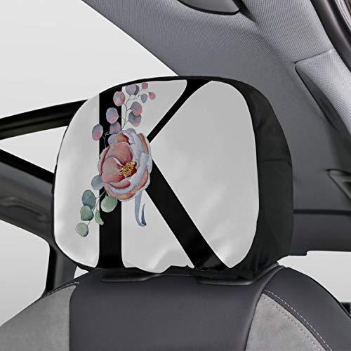monogram headrest covers - 1