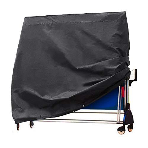 Cubierta para mesa de ping pong, cubierta protectora para placas de ping pong, funda protectora para mesa de ping-pong, resistente al agua para mesas de ping pong al aire libre/interior, color negro, tamaño 170*70*190cm(67*28*75in)