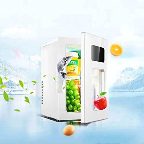 WLAY Elektrische koelbox, 10 l, draagbaar, 12 V/220 V, dubbel gebruik, mini-koelkast, zeer stil, isotherme, warm/koud, voor auto, kantoor en camping