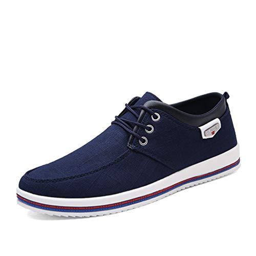 Hombres Zapatos Casuales Transpirable con Cordones Alpargatas para Hombres Zapatos De Lona Al Aire Libre