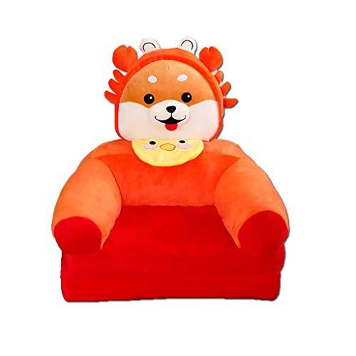 NXYJD Sillón plegable de felpa para niños, diseño de animales de dibujos animados