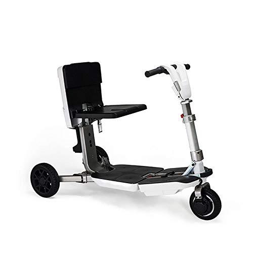 LQQ Motorized smart Balance Scooter Gepäck-Style Dreirädrigen Elektroroller-White Automatische Klapp Roller-2X48V 6.6ah / 20 Km/H, Reichweite-Charge 4 Stunden-Maximallast 100kg 2020