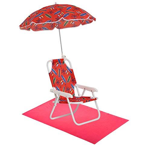 Boys' Surf Swim Essentials - Boys Beach Chair with Umbrella and Towel OS