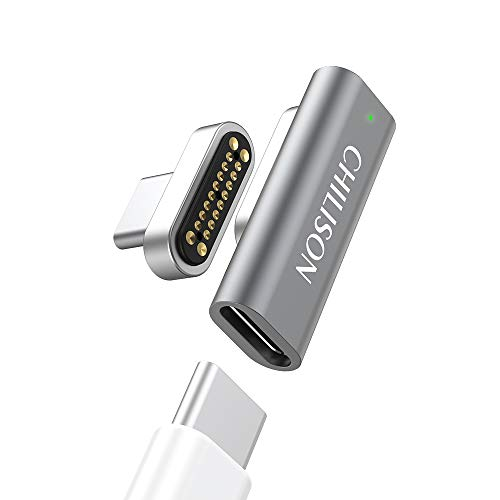Magnetic USB C Adapter, 20Pins Type C Connector, Support USB PD 100W Quick Charge, 10Gbp/s Data Transfer and 4K@60 Hz Video Output Compatible with MacBook Pro/Air, 2019 iPad Pro and More Type C Device
