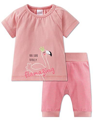 Schiesser Baby-Mädchen Anzug 2-teilig Zweiteiliger Schlafanzug, Gelb (Apricot 603), 86 (Herstellergröße: 086)