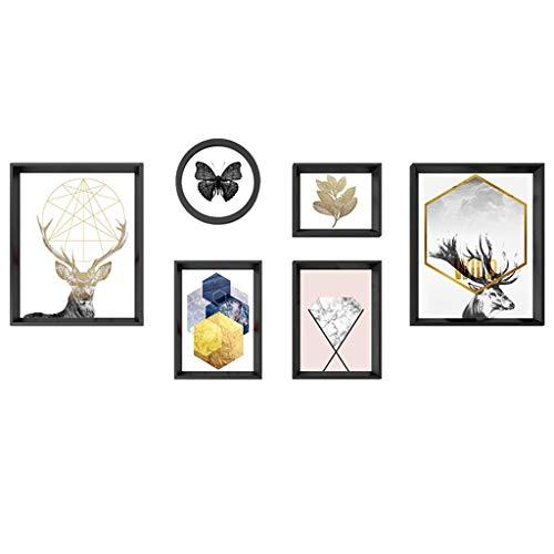 Arte de oficina en casa Marco de fotos Decoración de pared, marcos de cuadros conjuntos de pared, decoración moderna de pared, marco de imagen simple decoración de pared, sala de estar, material de po