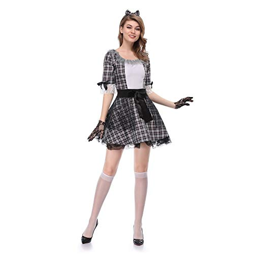 ERJQ Abito di Halloween, Costume da Vampiro Cosplay per Donna Halloween Costume da Sposa Fantasma Sposa Fiore Femmina Strega Costume Bambola Voodoo,M