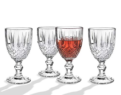 Wine Glasses Goblet, Beverage Water Juice Cup - 12oz, Set of 4