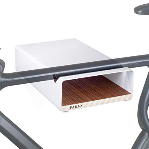 PARAX Soporte de pared para bicicleta / fabricado en Alemania – S-RACK en blanco adecuado para bicicleta de carretera Hardtail Cityrad Tourenrad Tourenrad – varios estantes