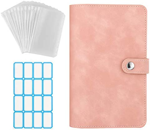 Dadanism 6 Ring Notebook Binder PU Leather Loose Leaf Notebook Binder Cover with 12pcs Clear product image
