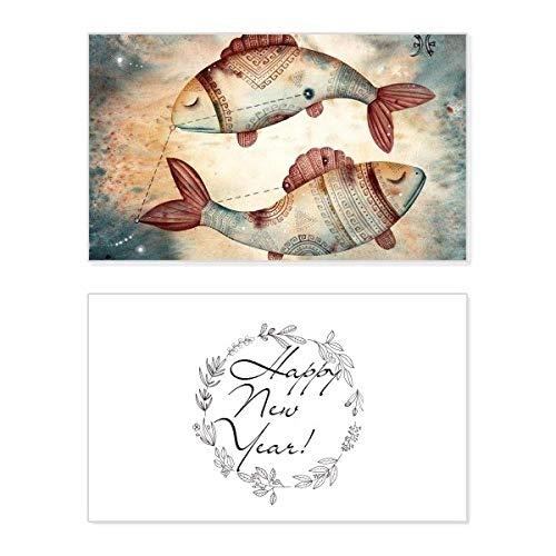 Glückwunschkarte zum Neujahr, Sternbild