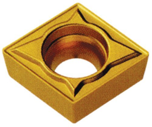 Cobra Carbide 40132 Solid Carbide Turning Insert, CM14 Grade, Multilayer Coated, CCMT Style, Molded Chipbreaker, CCMT 32.51, 5/32