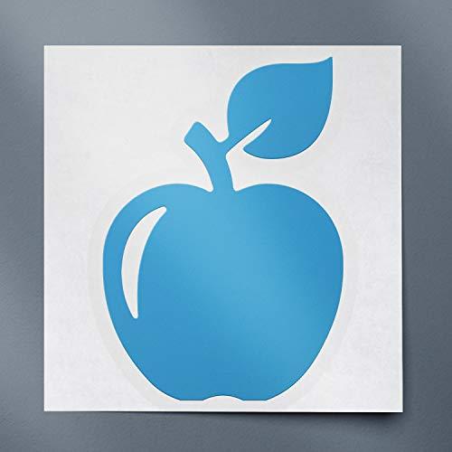 USC DECALS Apple Silhouette (Azure Blue) (Set of 2) Premium Waterproof Vinyl Decal Stickers for Laptop Phone Accessory Helmet Car Window Bumper Mug Tuber Cup Door Wall Decoration