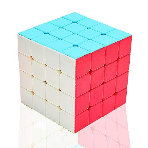 TOYESS Zauberwürfel 4x4 Stickerless, Speed Cube 4x4x4 Puzzle Würfel Spielzeug