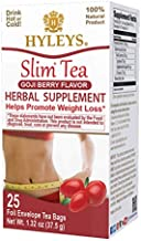 Hyleys Slim Tea Weight Loss Herbal Supplement with Goji Berry - Cleanse and Detox - 25 Tea Bags (1 Pack)