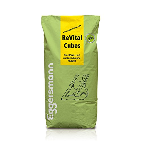 Haute qualité, épaisseur de et Doublure zuckerarmes spécial sans céréales, Eggers Mann Revital Cubes pour Cheval, Lot de 1 (1 x 25 kg)