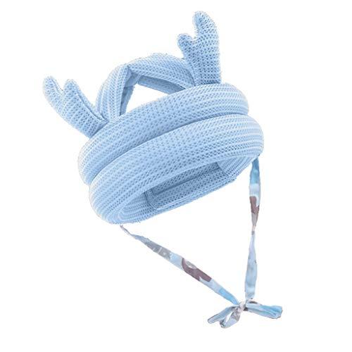 BLEUNUIT Gorra de Seguridad para bebés, Gorra para bebés pequeños Gorro Protector anticolisión Casco de Seguridad para bebés Ajustable-BL1