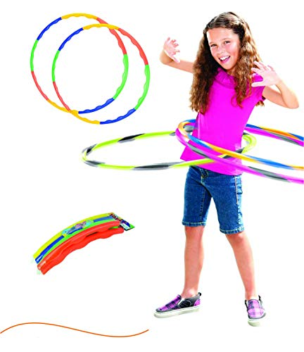 Hula Hoop, Hoopa Hula, Exercise Ring for Fitness with 30 inch Diameter for Boys,Girls, Kids and Adults ( Multi Color )