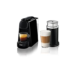 Nespresso essenza mini espresso machine, pack of 1, black 20 performance: create a barista-style coffee or espresso drinks every time, thanks to our one-touch operation and extraction system which delivers up to 19 bars of pressure. Size: discover the newest and smallest ever single-serve espresso maker from nespresso by de'longhi, without compromising on exceptional coffee and espresso moments. This compact espresso machine is effortlessly portable and features a sleek design and modern smooth lines, allowing it to fit into anywhere saving valuable counter space. Energy efficient coffee machine: in just one touch, the water reaches the ideal serving temperature in under 30 seconds and an energy saving mode automatically switches off the machine after 9 minutes.