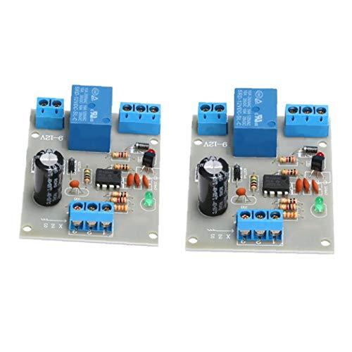 Runfon Interruptor de líquido regulador del Nivel del Agua 12v Nivel 2pcs del Sensor de detección de Automatización de Tanques de Bombeo