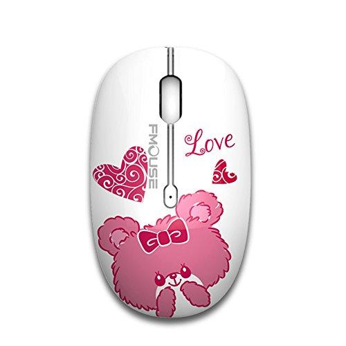Tenmos M101 Mouse Senza Fili Wireless 2.4 G Cute Silenzioso Ottico Mouse da Viaggio con Ricevitore USB per Notebook Computer laptop PC MacBook, DPI 1600