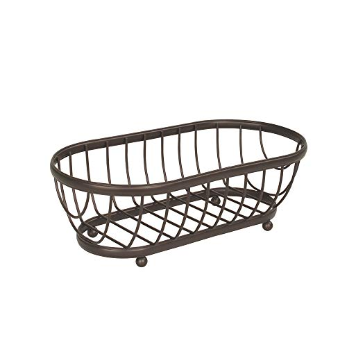 Spectrum Diversified Ashley Basket, Classic Kitchen Design for Breads, Roll, Muffin, Pastries & Baked Good Storage, Traditional Style Snack & Food Holder for Serving