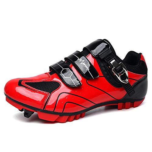 Gogodoing Chaussures de Cyclisme VTT pour Hommes Chaussures de Vélo de Sport de Plein Air Autobloquantes Chaussures de Vélo de Route de Course Professionnelles