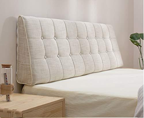 SXCDD Kissen Kopfteil,einfach Zu Reinigen Rückenlehne Doppelbett,bettrücken,atmungsaktives Lesekissen,Nicht Verformt Kissen P 120x15x50cm(47x6x20inch)
